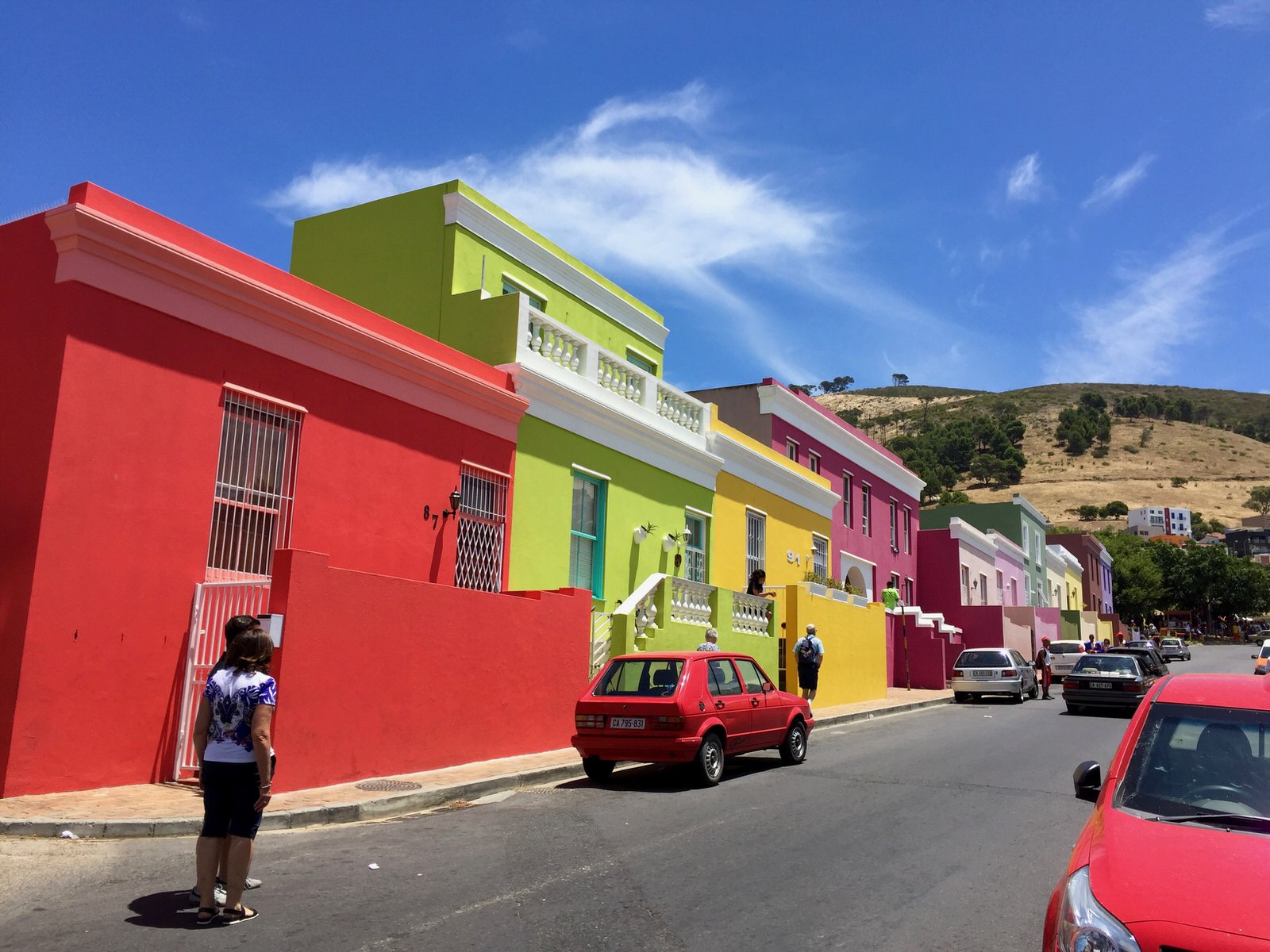 Bo Kaap colorful houses in Cape Town