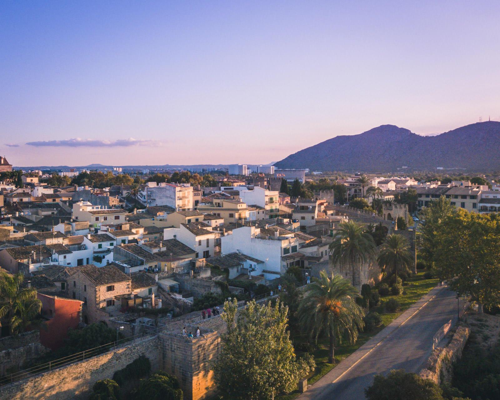 Drone photo over Alcudia