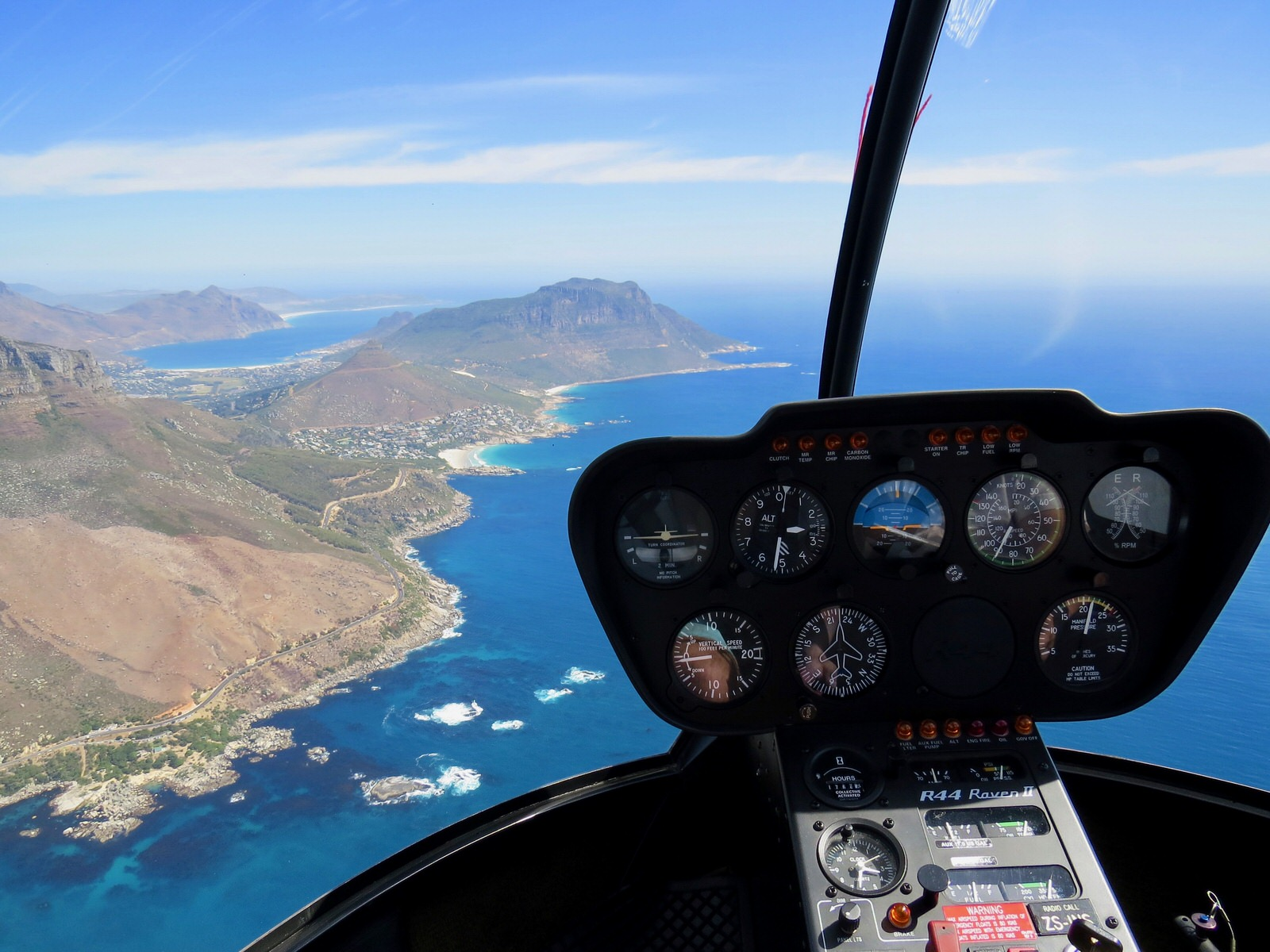 Helicopter tour over Cape Town