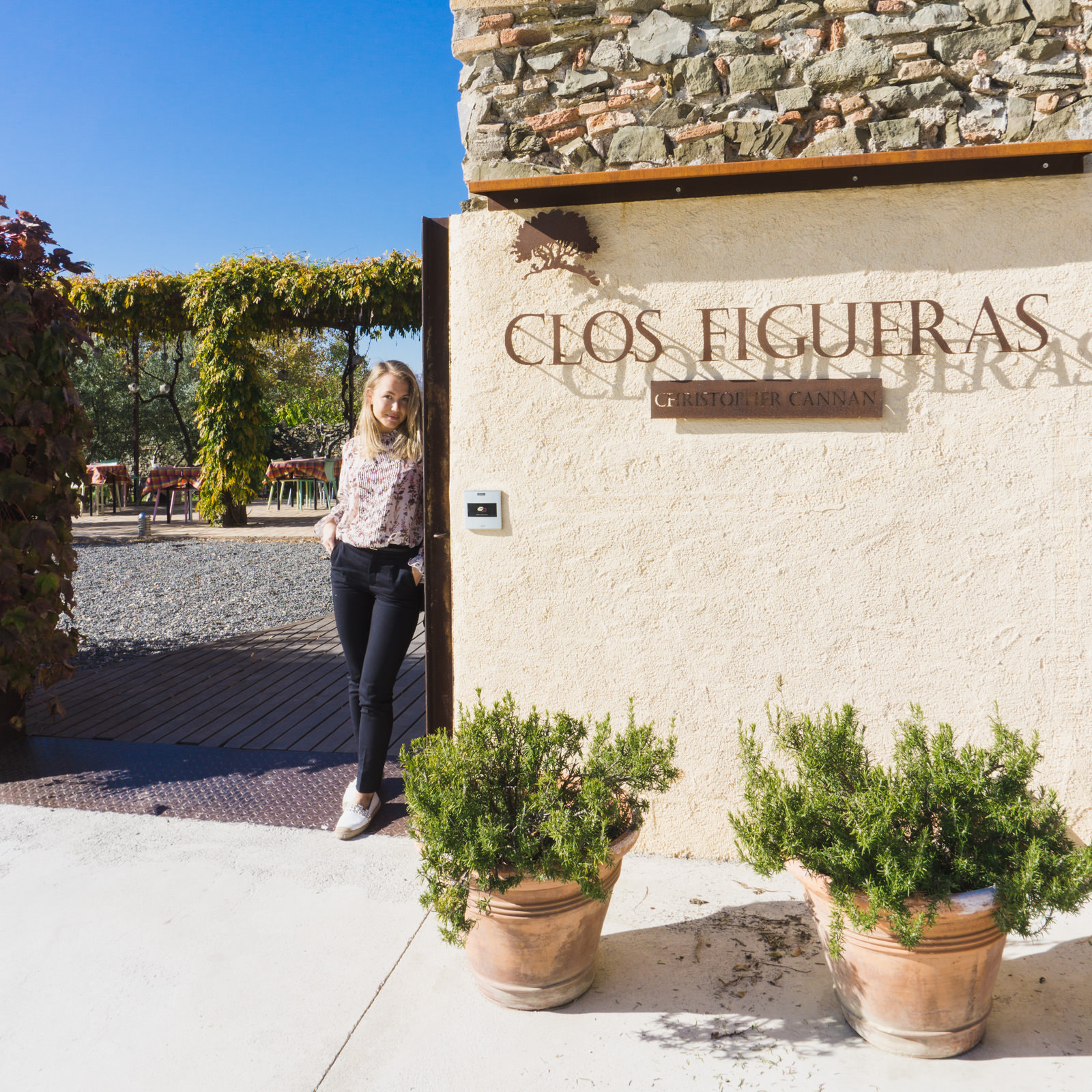 Paulina at Clos Figueras Priorat