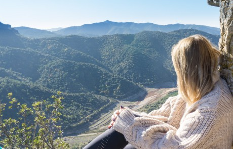 Paulina on top of Siurana Priorat