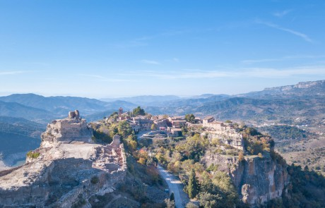 Siurana drone photo from above