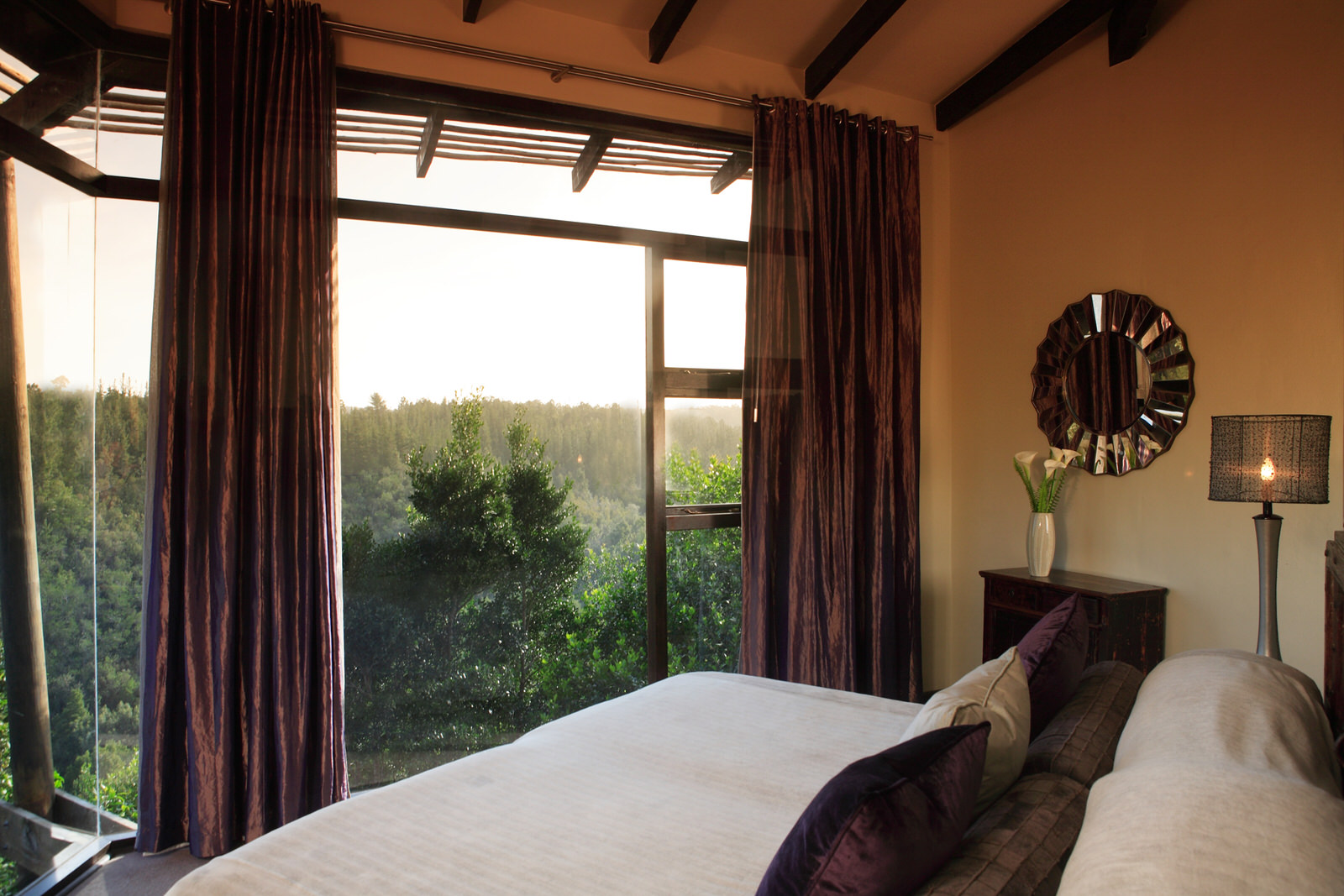 Tsala Treetop Lodge bedroom view in South Africa